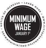 Minimum Wage Increases Jan. 1
