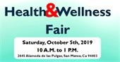 Flyer for Health and Wellness Fair Oct. 5