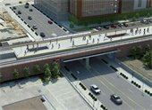 Rendering of Grade Separation at 28th Avenue