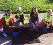 Girl Scouts Entry for Adopt a Drain Photo Contest