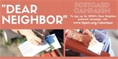 Dear Neighbor postcard campaign