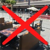 No outdoor dining