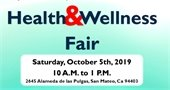 Health and Wellness fair flyer