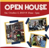 Open House flyer for fire station