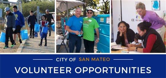 City of San Mateo Volunteer Opportunities Banner