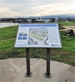 Interpretive sign at Seal Point Park