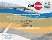 Virtual Meeting on Bicycle Improvements at 28th Ave