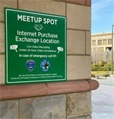 Meet up spot outside police department