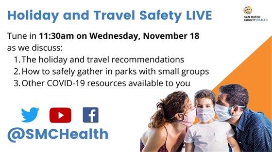 Holiday Travel Safety Tips Facebook Livestream