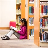 Girl at the Main Library