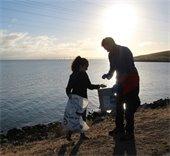 Volunteers at Coastal Cleanup Day