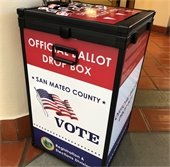 San Mateo County November 6 Election Ballot Box