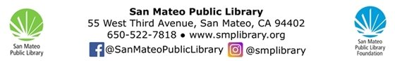 San Mateo Public Library Address and Logos