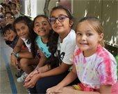 Children at a City camp program
