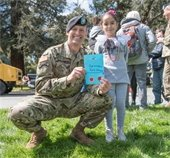 A solider with a girl
