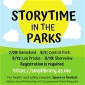 Storytimes in the Parks