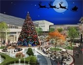 Rendering of new hillsdale shopping center with tree