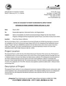 Notice of Availability of a Draft Environmental Impact Report for the Clean Water Program; Underground Flow Equalization System Project, San Mateo County Event Center