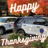 San Mateo Police Happy thanksgiving