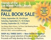 Annual fall books sale flyer
