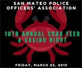 Police Officers Association Crab Feed Flyer