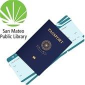 Library logo, passport