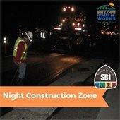 Night Construction Zone