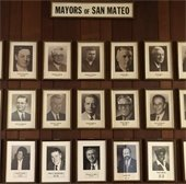 Mayors pictures hanging in City Hall