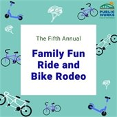 Family fun and bike rodeo logo