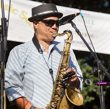 Saxophone Player Performing at 2016 Central Park Music Series
