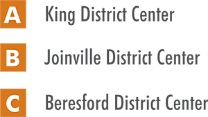 District Centers - King, Joniville, Beresford