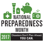2017 National Preparedness Month Logo