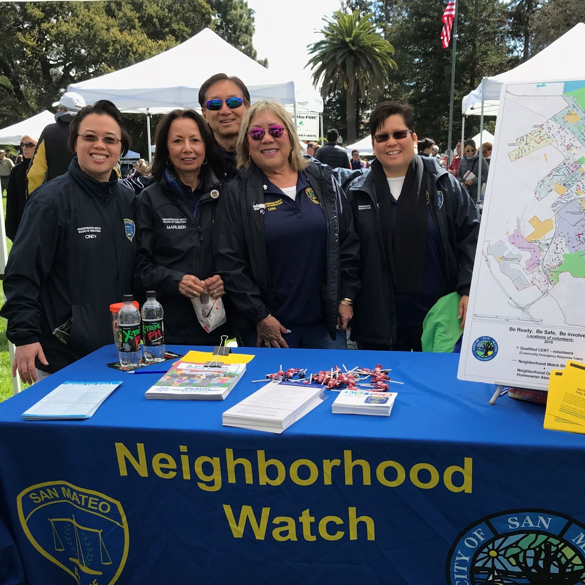 Neighborhood watch table at event.