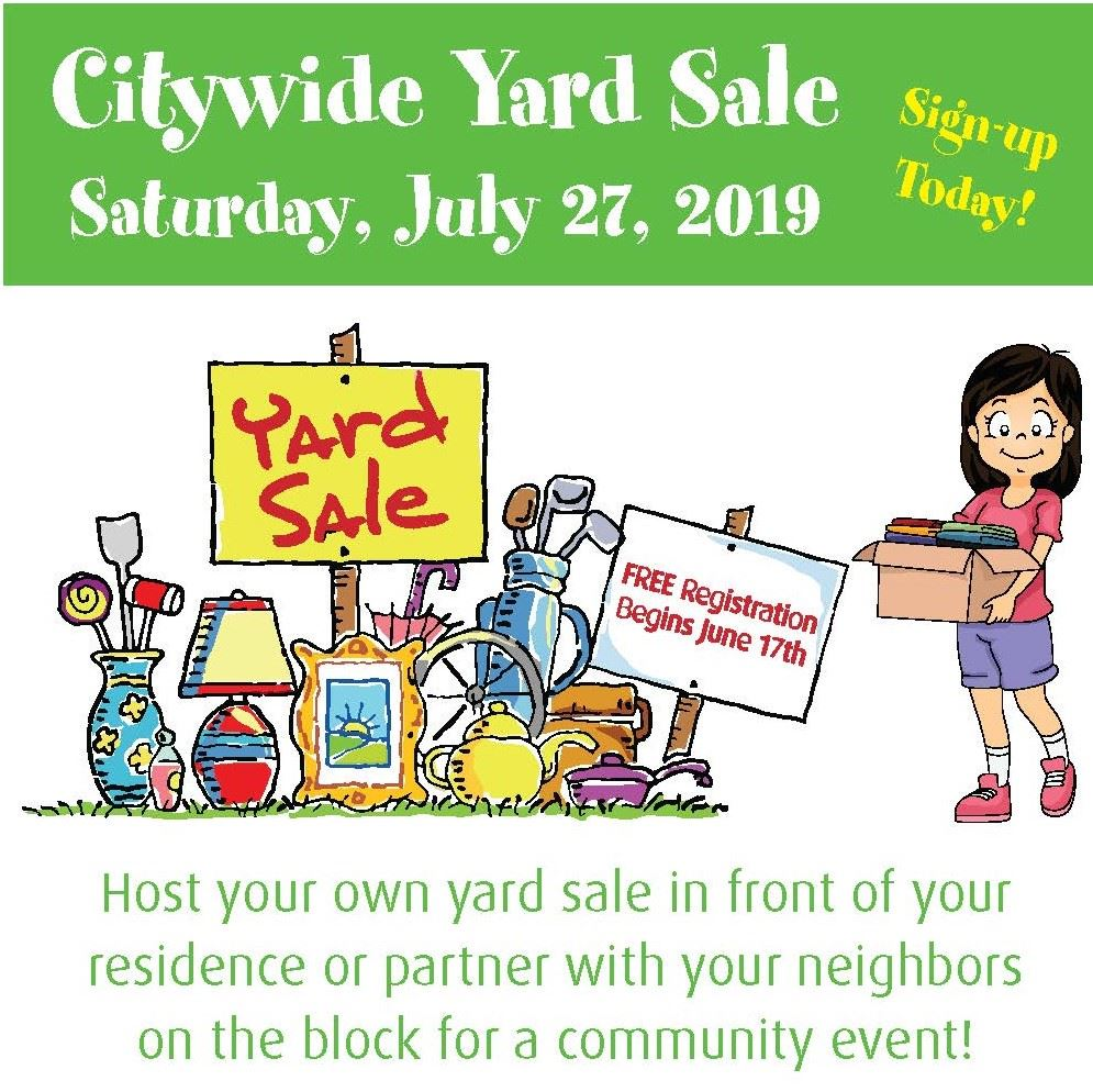 Yard Sale 2019 Square Graphic