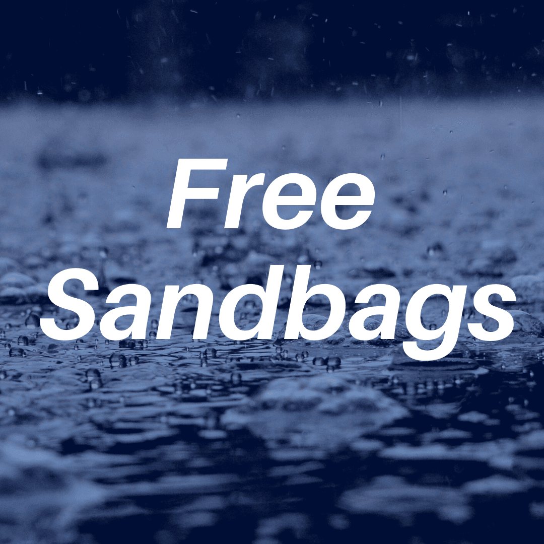 Free Sandbags, water drops in background