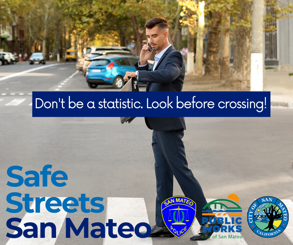 Safe Streets San Mateo 2021 - Adult distracted
