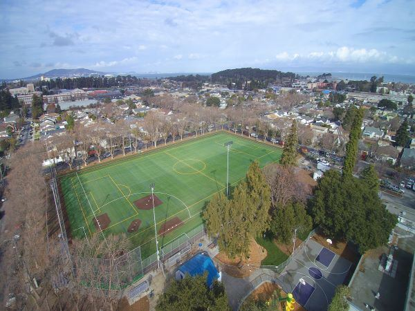 King Park Field Aerial Drone View