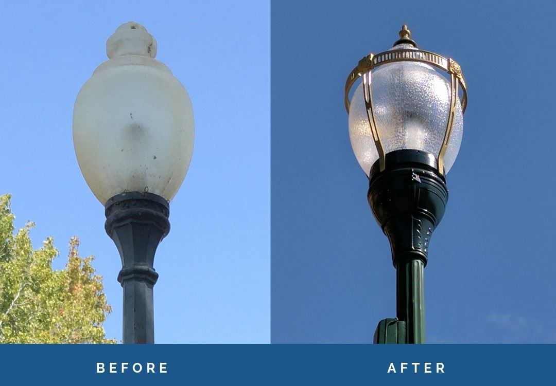 Street Light Conversion 2019 - Before and After