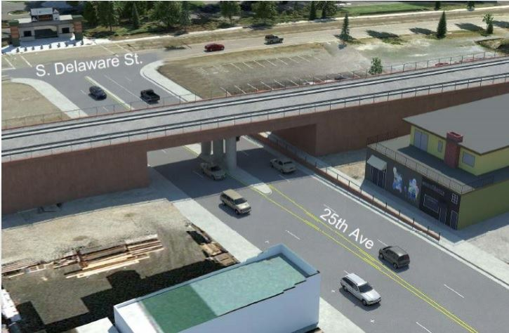 25th Grade Separation Project rendering