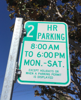 Residential Parking Permit Sign Picture