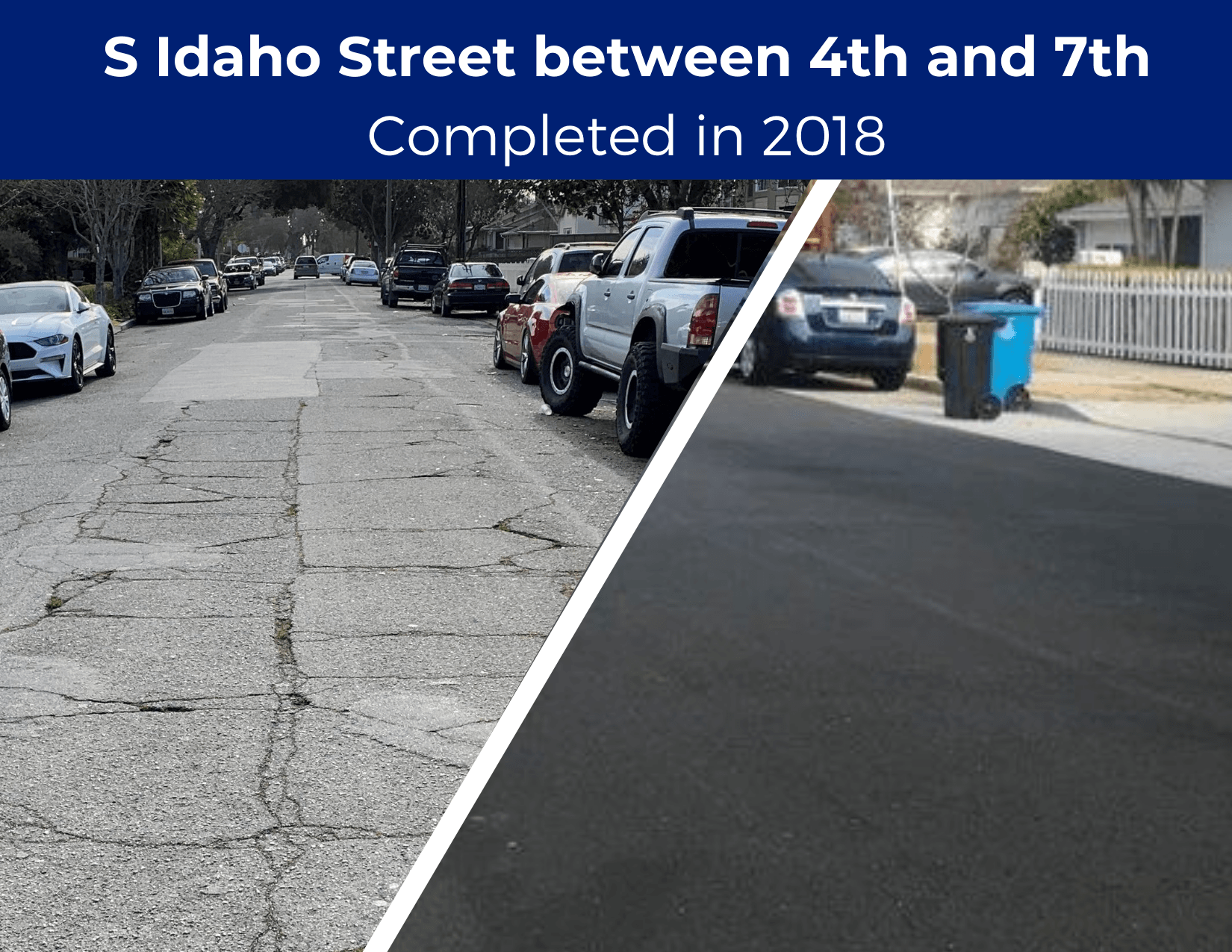 S Idaho Street between 4th and 7th Completed in 2018