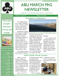 ABU March Newsletter