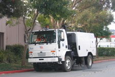 Street Sweeper in Business Area