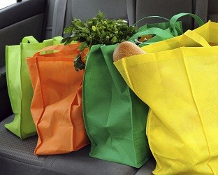 Colorful Reusable Bags Car Seat
