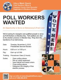 Poll Workers flyer