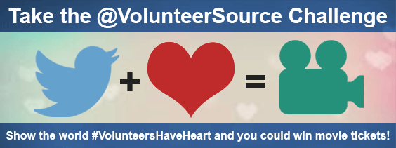 Take the @VolunteerSource Challenge