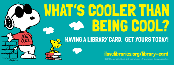 Peanuts Library Card Campaign