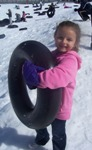 PALer goes tubing on a PAL Winter adventure.